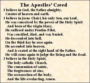 The apostle creed catholic