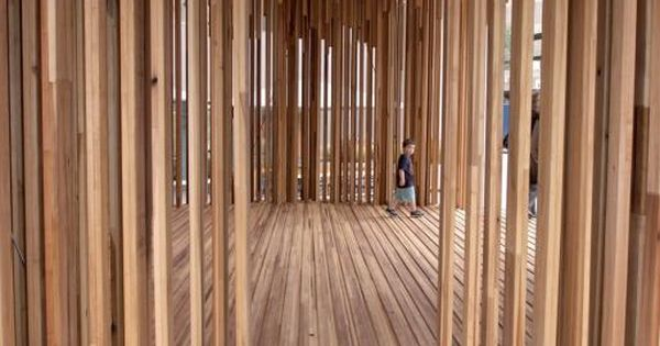 David Adjaye\u2019s Sclera pavilion was made of American tulipwood to highlight the