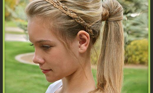 Celebrity Hairstyles Braided Headband