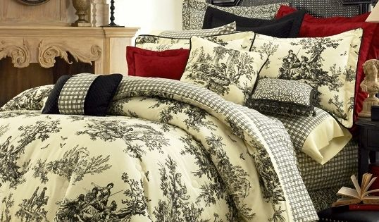 Black And White Toile Bedroom Ideas: Image Detail For -4pc Thomasville Bouvier Black/Ivory