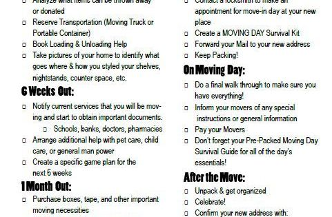 a moving to do list for the organized mover free printable moving timeline moving packing. Black Bedroom Furniture Sets. Home Design Ideas