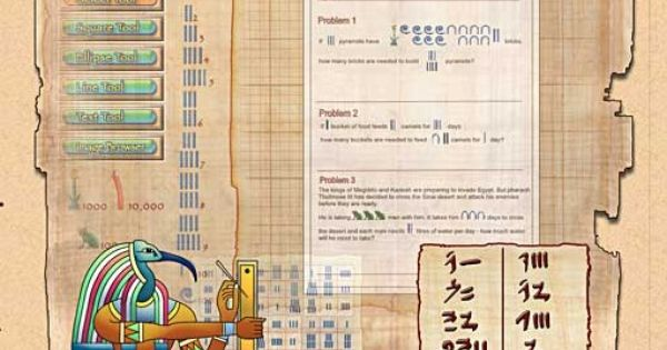 Egyptian Mathematics Numbers Hieroglyphs Egyptian Math Problems For Kids Mathematics