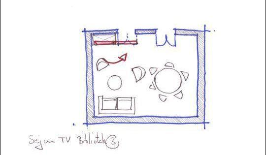 o mettre la t l vision dans le salon salons et t l vision. Black Bedroom Furniture Sets. Home Design Ideas