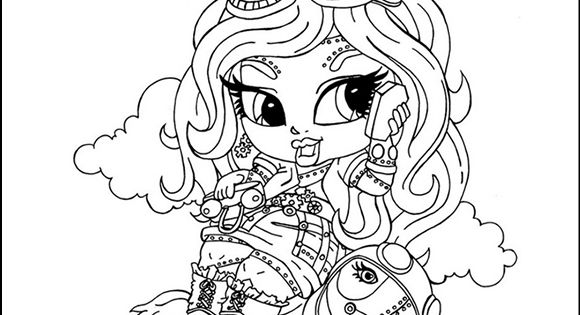 monster high robecca steam baby chibi cute coloring page 11133 colouring in pinterest