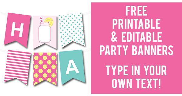 Sweet image regarding making a printable banner