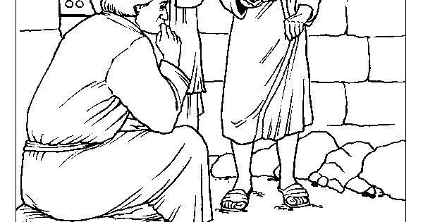 Joseph in Prison Coloring Page
