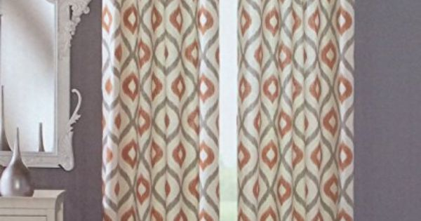 Cynthia Rowley Grommet Top Pair Of Curtains In Gray Rust