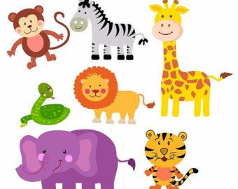 Monkeys Clipart Set Animal Clipart Free Safari Animals Animal Clipart