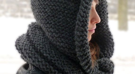 Knitting Pattern Hood With Ears : KNITTING PATTERN Hooded Cat Cowl, Cat Ears Hooded Infinity ...