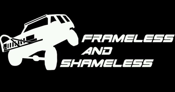 Jeep Zj Frameless And Shameless Decal Sticker Gloss White