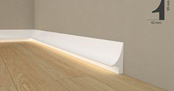 licht fuleiste wiesemann ql007 sockelleiste fr indirekte beleuchtung aus hochfestem polyurethan - Sockelleiste Fur Kuche