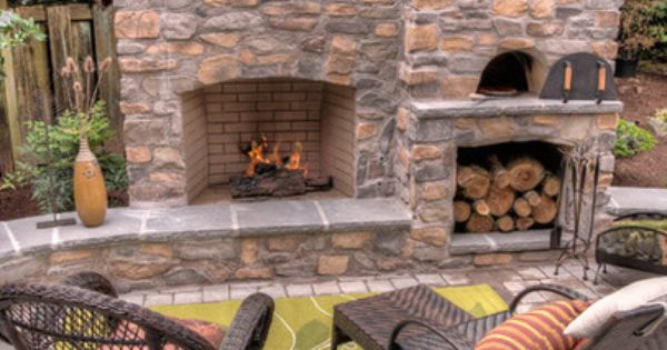 Fireplace And Pizza Oven With Seat Walls Paradise