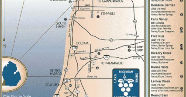 Lake Michigan Shore Wine Trail Map Maps Local