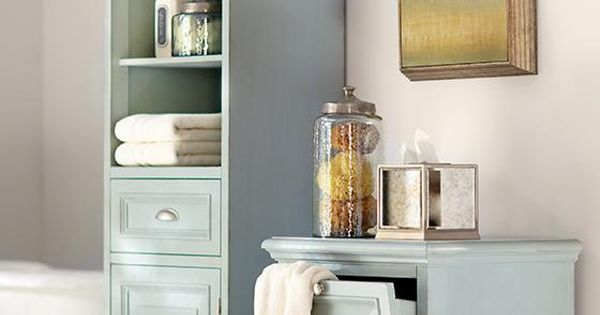 Decorate Your Bathroom With A Coordinating Linen Cabinet And Hamper That Are Both Pretty And