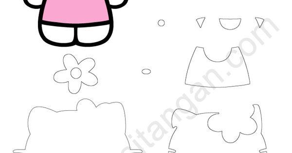 Pola Kain Flanel Hello Kitty Minnie Mouse Pinterest