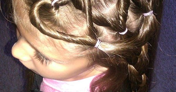 #heart braids - cute for kids ! Wish i had a little