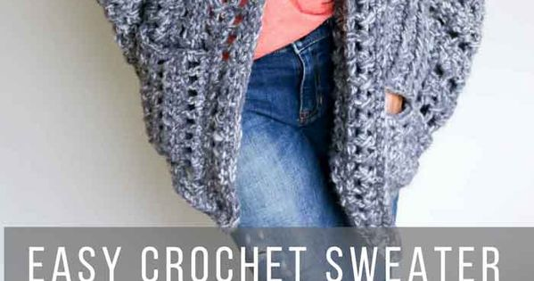Easy, Chunky Crochet Sweater - Free Pattern! | Chunky ...