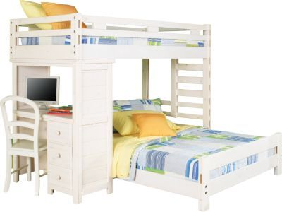 Creekside Stone Wash Twin Twin Student Loft Bed W Desk 797 00 80l X 81w X 67h Find Affordable Twin Beds For Your Hom Bunk Bed With Desk Loft Bed Bunk Beds