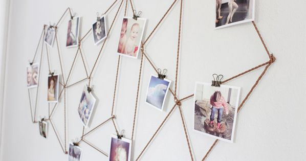 Use twine to create this modern geometric display. | 27 Unique Photo