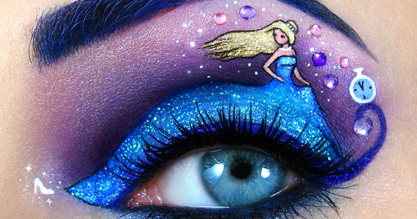 Small works of art on the eyelids are possible - Amazing Art,