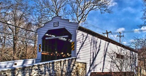 Gibson S Bridged Chester County Pa Covered Bridges Bridge Places