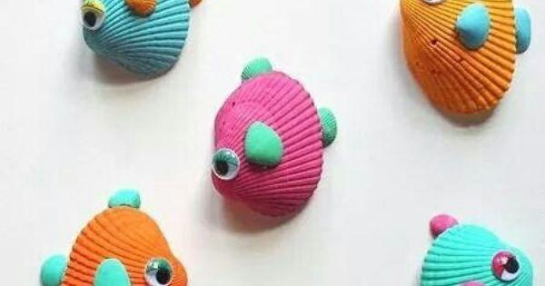 12 bricolages pour les enfants faire avec des coquillages. Black Bedroom Furniture Sets. Home Design Ideas