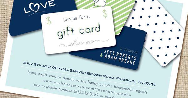 Gift Card Wedding Shower: Gift Card Bridal Shower Invitation Wording