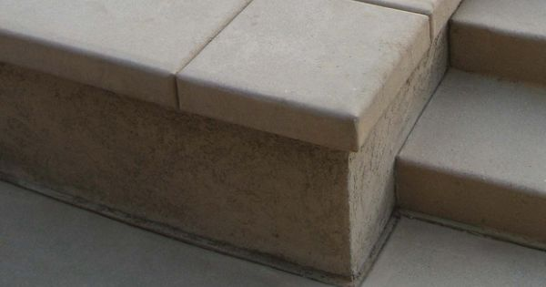 Seating Wall Concrete Cap Patio Patio Pinterest