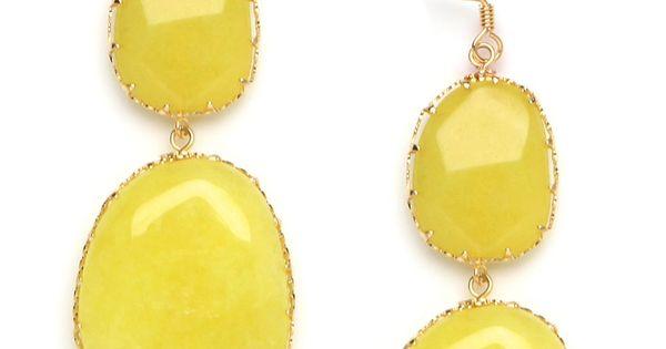 fun gold earrings
