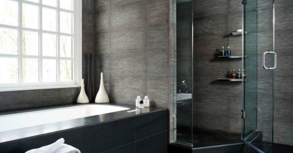 badgestaltung ideen badewanne und graue w nde 77 badezimmer ideen f r jeden geschmack bad. Black Bedroom Furniture Sets. Home Design Ideas