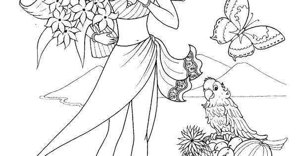 nice Fashion Girl Coloring Pages