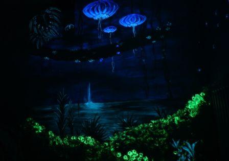 Glow In The Dark Wall Murals glow in the dark art. avatar forest glowing in the dark wonder