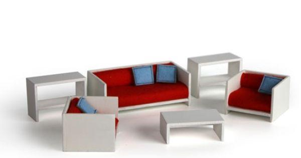 Wohnzimmer Zum Puppenhaus passende schlichte Möbel mit Bezügen aus - mobel weis wohnzimmer