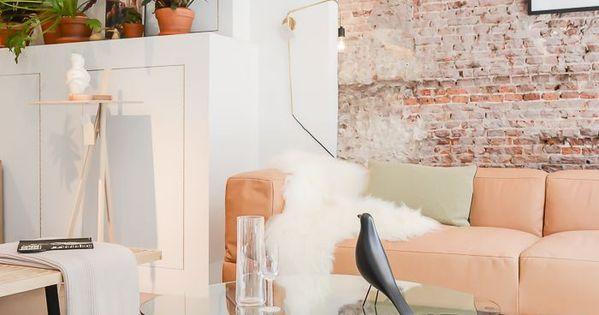 5 Id Es D Co Retenir Pour Un Relooking Reussi Salons Murs De Briques Et Murs Blancs