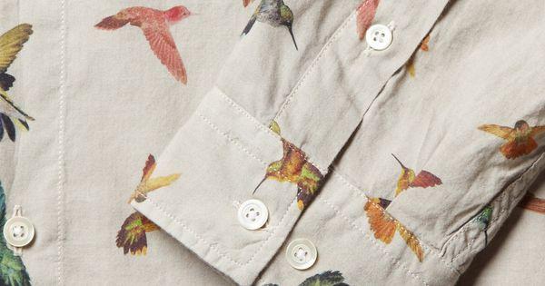 I sure love bird prints at the mo... McQ Alexander McQueenHummingbird-Print Cotton