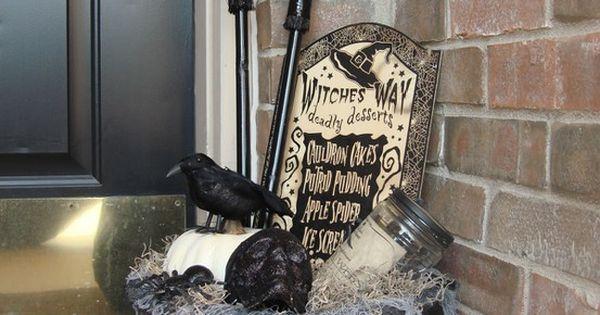 Dollar Store Halloween Front Door Decor