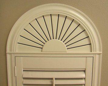 Arched Window Shutter For Half Circle Window Above Door Half Circle Window Custom Window Treatments Window Above Door