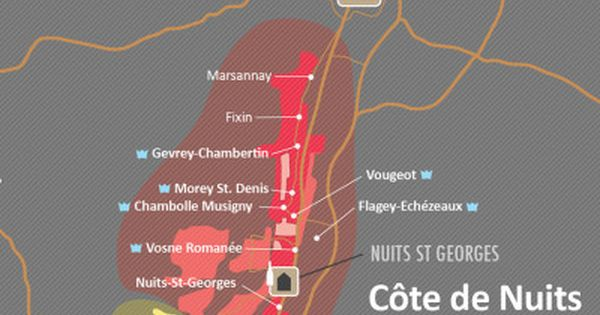 Cote De Nuits Wine Map Wine Map Wine Folly Burgundy Wine