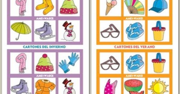 El Bingo Del Verano Para Ninos Y Ninas Curiosas Loterias Para Ninos Bingo Para Imprimir Bingo