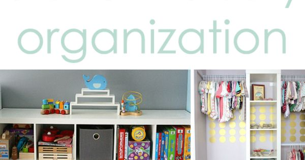 Clever Nursery Organization Ideas - Project Nursery. Wire baskets for storage!