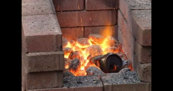Fire Brick Foundry : Homemade blacksmiths forge metal arts and crafts