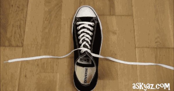 Gifsboom How To Tie Shoes Shoe Laces Tie Shoes
