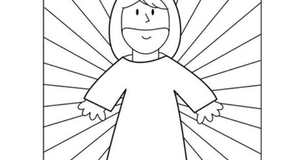 Jesus took away our sins Coloring Page from TwistyNoodle