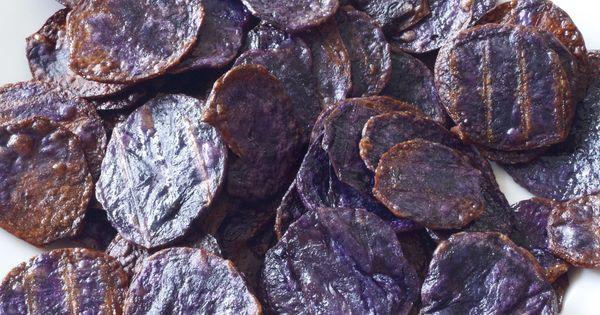 Purple potatoes, Potato chips and Chips on Pinterest