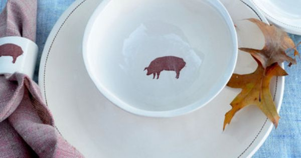 Heritage Pig Dinnerware Set Butcher And Baker For The