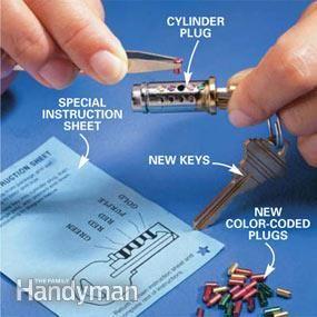 How To Rekey A Door Lock Door Locks Diy Security Home Security