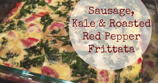Kale & Roasted Red Pepper Frittata | Food | Pinterest | Roasted Red ...