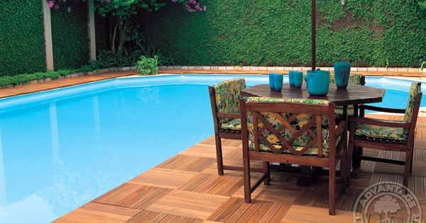 Advantage Deck Tiles Have All The Durability Resilience Of Long Length Ipe Decking Hardwood Pool Patio Deck Tile Deck Tiles Deck Design