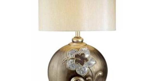 Ok Lighting 29 In Antique Brass My Fair Lady Collection Table