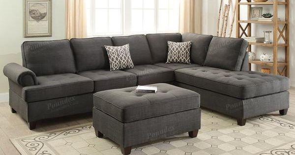 Poundex 2 Pcs Sectional Sofa F6990